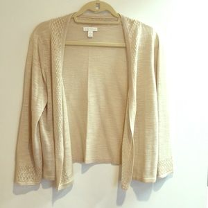 Charter club beige tan knit cardigan sweater